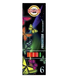 Voskovky Progresso 8741/6 Fluorescenčné, 6-farebné