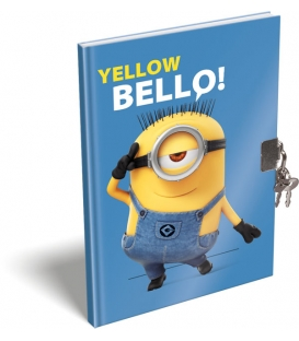 PAMÄTNÍK A5 SO ZÁMKOM MINION YELLOW BELLO