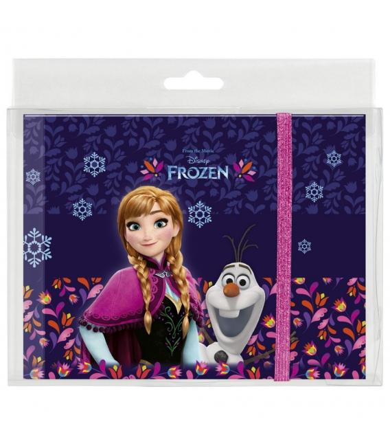 Pamätník A5 s gumou 80 vzorovaných strán - Frozen - Zima