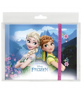 Pamätník A5 s gumou 80 vzorovaných strán - Frozen - Jar