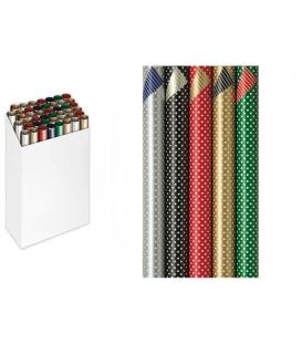 Papier baliaci ozdobný dvojfarebný luxusný 100x70, 2ks