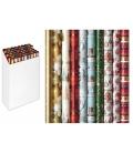 Baliaci papier ozdobný luxusný - mix motívov, 200x70  2ks