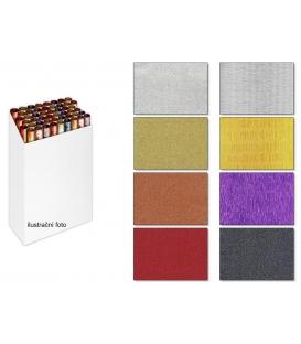 Papier baliaci ozdobný glitrový jednofarebný luxusný 150x70, 2ks