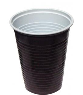 Poháre plastové hnedobiele 200ml na horúce nápoje 100ks