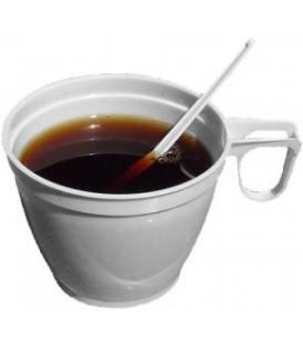 Šálky na kávu s uškom 180ml plastové biele, 60ks