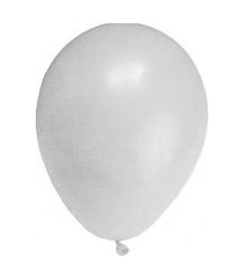 Balóniky nafukovacie biele veľkosť M, 100ks
