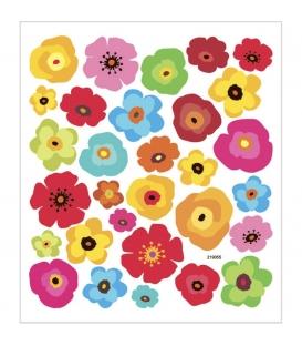 Nálepky kvetinky 15x16,5cm 1 list