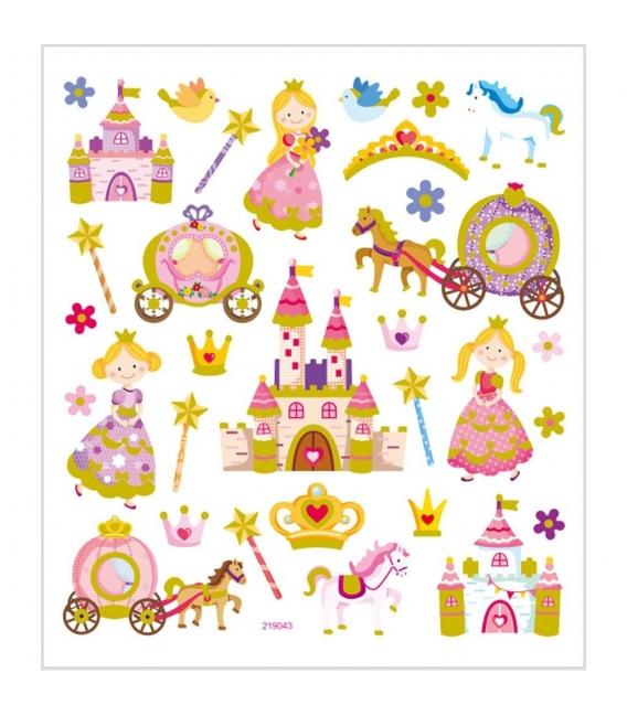 Nálepky rozprávkové princezné 15x16,5cm 1 list