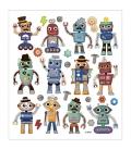 Nálepky roboti 15x16,5cm 1 list