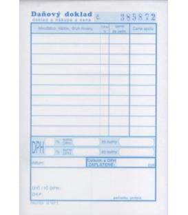 Daňový doklad - paragón A6 číslovaný blok NCR 50x2 list.