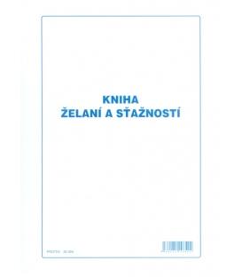 Kniha želaní a sťažností A4 mäkká väzba 2x25 list.