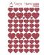 Samolepky dekoračné červené srdiečka 12x18 cm, č. 411