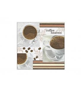 Servítky dekoračné 33x33cm, 20ks, 3-vrst - Coffee Heaven