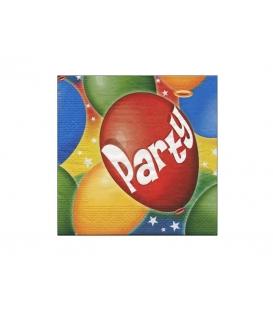 Servítky dekoračné 33x33cm, 20ks, 3-vrst - Party