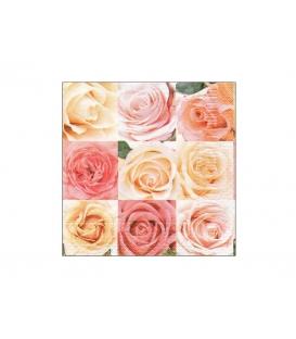 Servítky dekoračné 33x33cm, 20ks, 3-vrst - Ruža