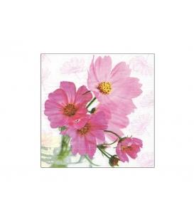 Servítky dekoračné 33x33cm, 20ks, 3-vrst - Kvetinky