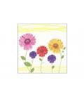 Servítky dekoračné 33x33cm, 20ks, 3-vrst - Kvety