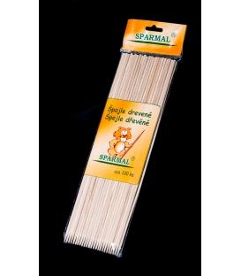 Špajdle drevené hrotené 25 cm, 100 ks