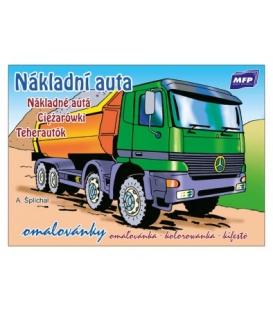 Omaľovanka A5 nákladné autá