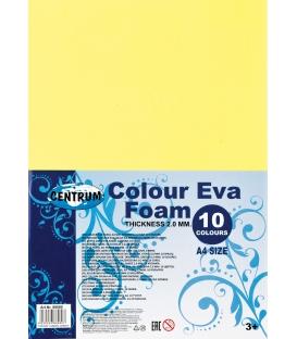 Penová guma A4 hrúbka 2mm 10 farieb