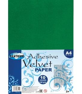 Papier farebný samolepiaci A4 zamatový 10 hárkov