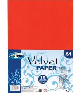 Papier farebný A4 zamatový 10 hárkov
