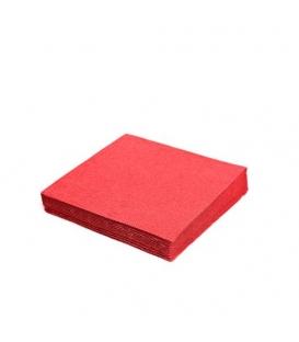 Servítky 2-vrstvové 33x33 červené balenie po 50 ks