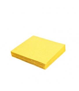 Servítky 2-vrstvové 33x33 žlté balenie po 50 ks