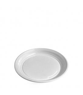 Tanier plastový PS plytký biely 20.5cm - 100ks