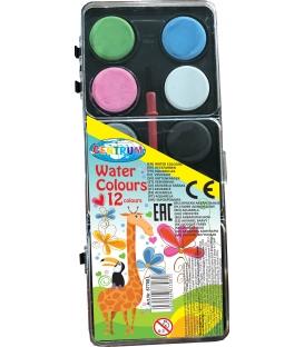 Vodové farby Giraffe 12-far 20mm + štetec