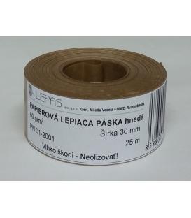 Lep. páska 30 mm x 25 m papierová