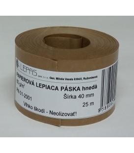 Lep. páska 40 mm x 25 m papierová