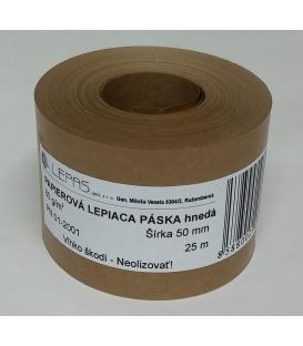 Lep. páska 50 mm x 25 m papierová