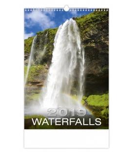 Kalendár nástenný WATERFALLS 2019