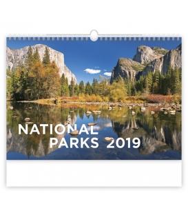 Kalendár nástenný NATIONAL PARKS 2019