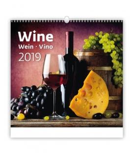 Kalendár nástenný WINE 2019