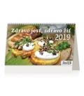 Kalendár stolový ZDRAVO JESŤ, ZDRAVO ŽIŤ  2019