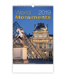 Kalendár nástenný WORLD MONUMENTS 2019