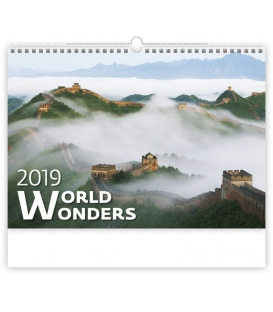 Kalendár nástenný WORLD WONDERS 2019