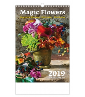 Kalendár nástenný MAGIC FLOWERS 2019