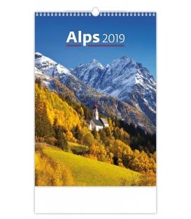 Kalendár nástenný ALPS 2019