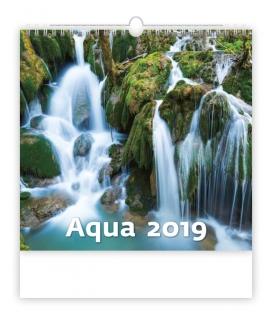 Kalendár nástenný AQUA 2019