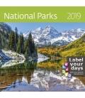 Kalendár nástenný malý  NATIONAL PARKS 2019