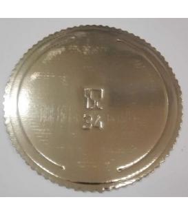 Tortová podložka zlatá kruh 34cm