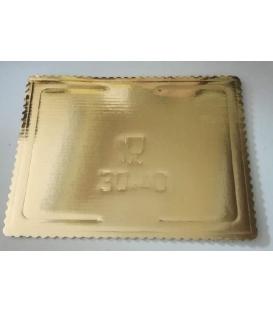 Tortová podložka zlatá 30x40cm