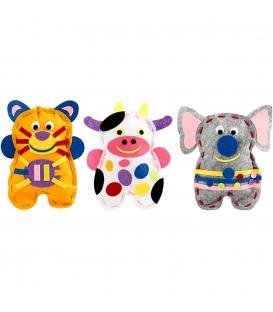 Sada na výrobu filcovej 3D postavičky - mačka / krava / slon
