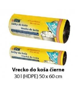 VRECIA do koša (HDPE) 50 x 60 cm, 30 l , 6µ, ČIERNE 50 ks