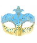 Maska karnevalová modro-zlatá