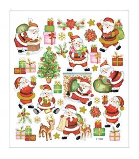 Nálepky s Vianočným motívom 15x16,5cm 1 list