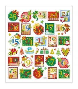Nálepky Advent 15x16,5cm 1 list